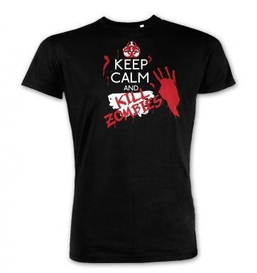 Keep Calm And Kill Zombies  premium t-shirt