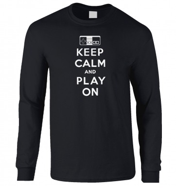 Keep Calm And Play On long-sleeved t-shirt