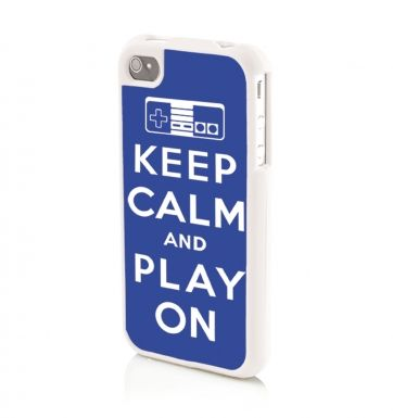 Keep Calm And Play On (BLUE) Apple iPhone 4/4s Phone case