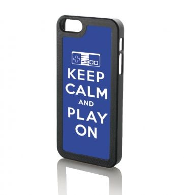 Keep Calm And Play On (BLUE) iPhone 5 & iPhone 5s case