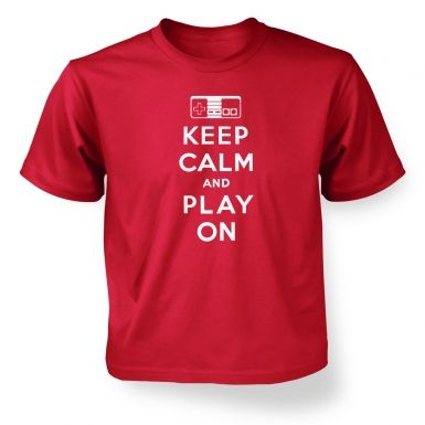 Keep Calm And Play On  kids t-shirt