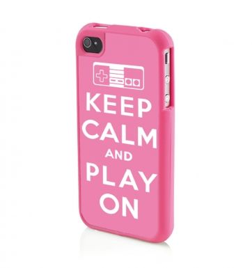 Keep Calm And Play On (PINK) Apple iPhone 4/4s Phone case