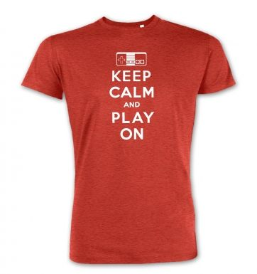 Keep Calm And Play On  premium t-shirt