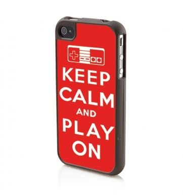 Keep Calm And Play On (RED) Apple iPhone 4/4s Phone case