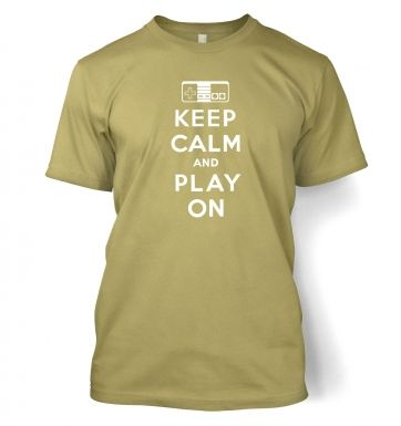 Keep Calm And Play On men's t-shirt