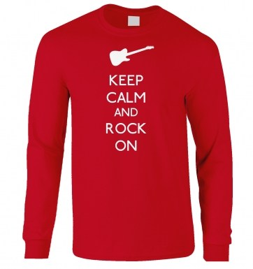 Keep Calm And Rock On long-sleeved t-shirt