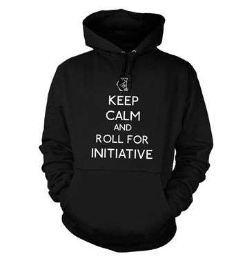 Keep Calm And Roll For Initiative hoodie
