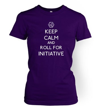 Keep Calm And Roll For Initiative women's t-shirt