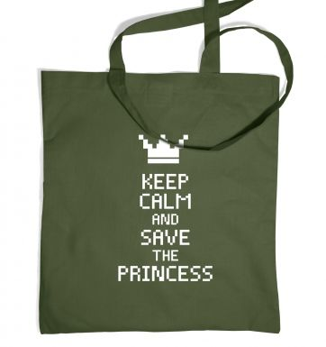 Keep Calm And Save The Princess tote bag