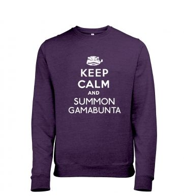 Keep Calm and Summon Gamabunta heather sweatshirt