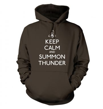 Keep Calm and Summon Thunder  hoodie