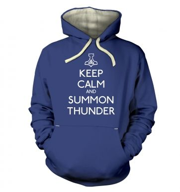 Keep Calm and Summon Thunder premium hoodie