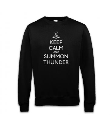 Keep Calm and Summon Thunder sweatshirt