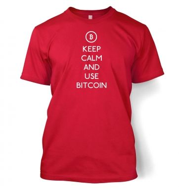 Keep Calm and use bitcoin t-shirt