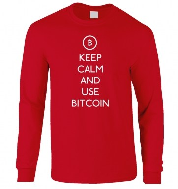 Keep Calm And Use Bitcoin long-sleeved t-shirt