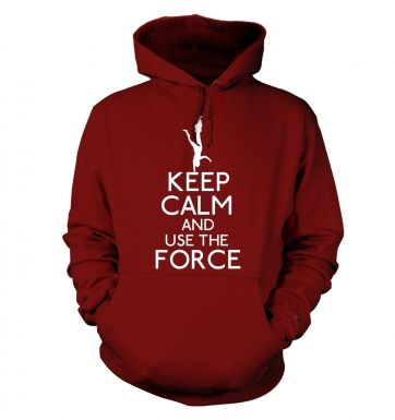 Keep Calm and Use the Force Adult Hoodie