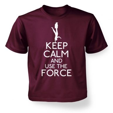 Keep Calm and Use the Force kids' t-shirt