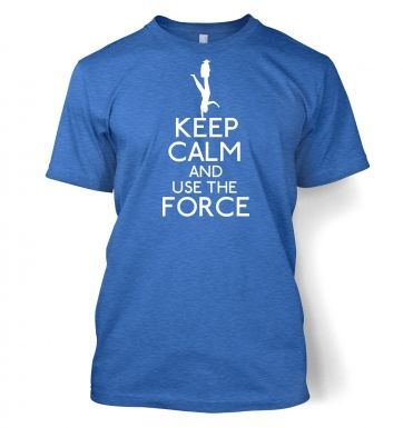 Keep Calm and Use the Force men's t-shirt
