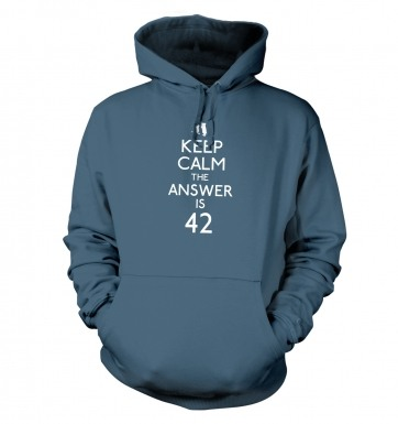 Keep Calm The Answer Is 42 hoodie