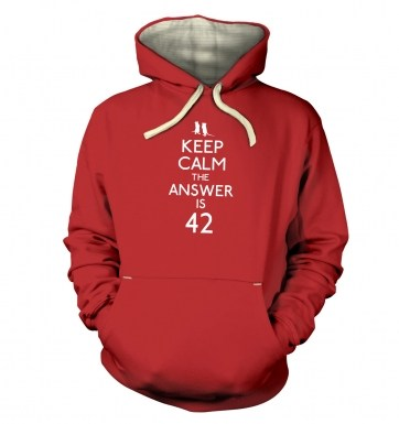 Keep Calm The Answer Is 42 hoodie (premium)