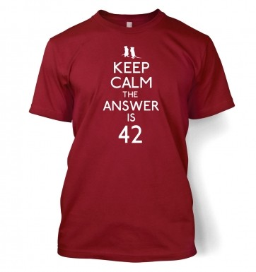 Keep Calm The Answer Is 42 t-shirt