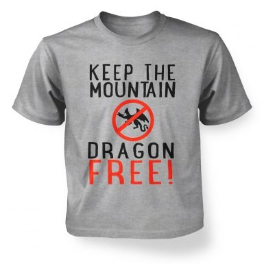 Keep The Mountain Dragon Free kids t-shirt