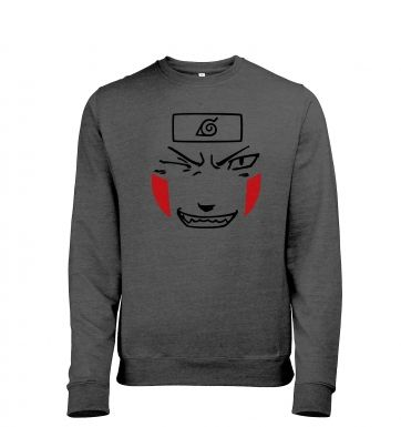 Kiba Face - Mens Heather Sweatshirt