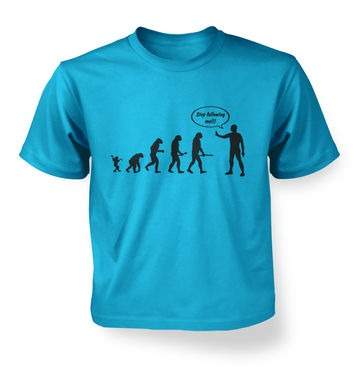 Stop Following Me Evolution kids t-shirt