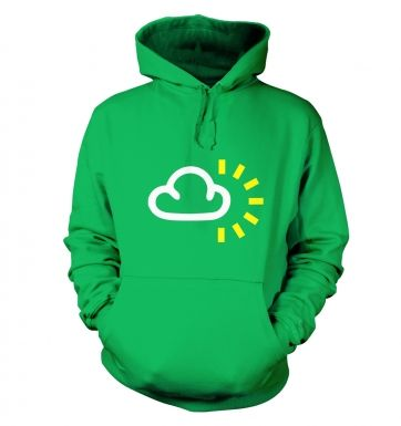 Weather Symbol Cloudy with Sun hoodie