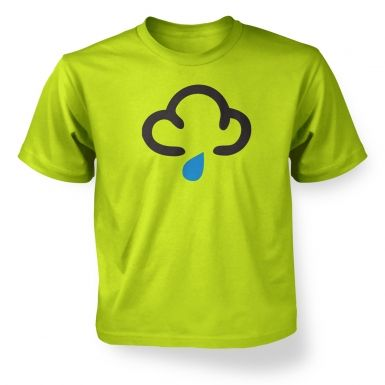 Kids' Weather Symbol Dark Clouds with Showers t-shirt
