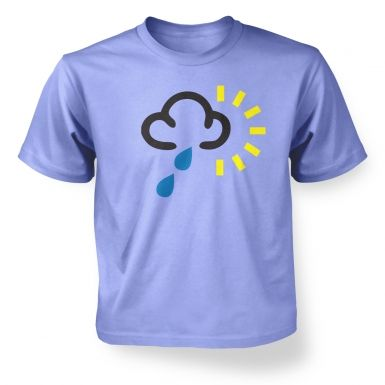 Weather Symbol Heavy Rain with Sun kids' t-shirt
