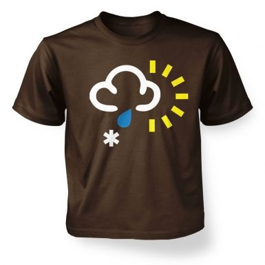 ' Weather Symbol Snow with Rain and Sun kids t-shirt