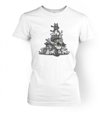 Kittynacci Pyramid   womens t-shirt