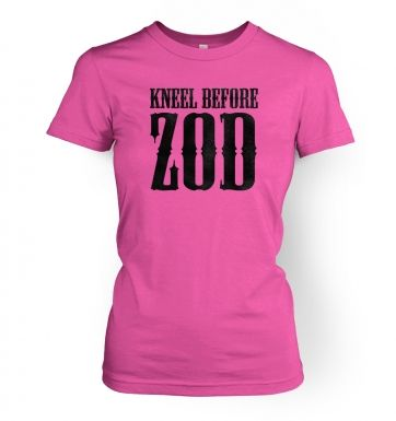 Kneel Before Zod   womens t-shirt