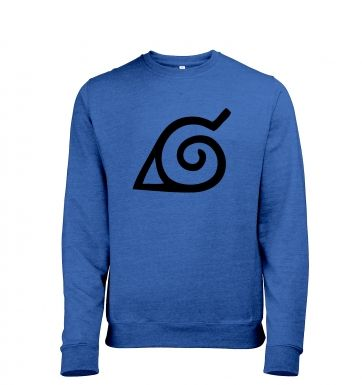 Konoha Leaf Adult Mens Heather Sweatshirt