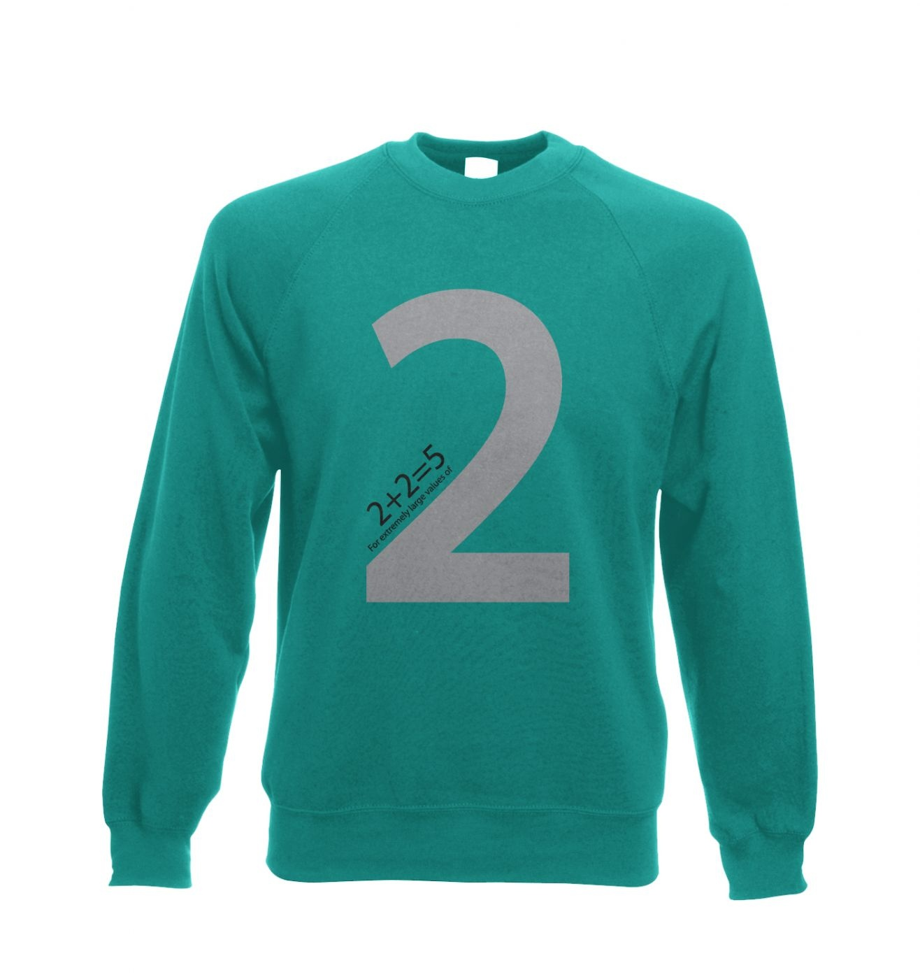 2 + 2 = 5 For Extremely Large Values Of Two Adult Crewneck Sweatshirt