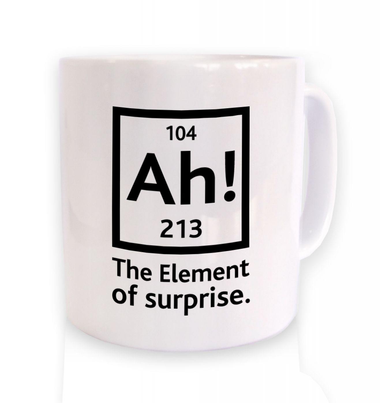 Ah! The Element Of Surprise ceramic coffee mug
