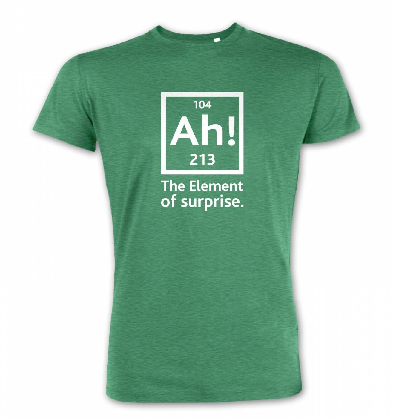 ah the element of surprise t shirt somethinggeeky