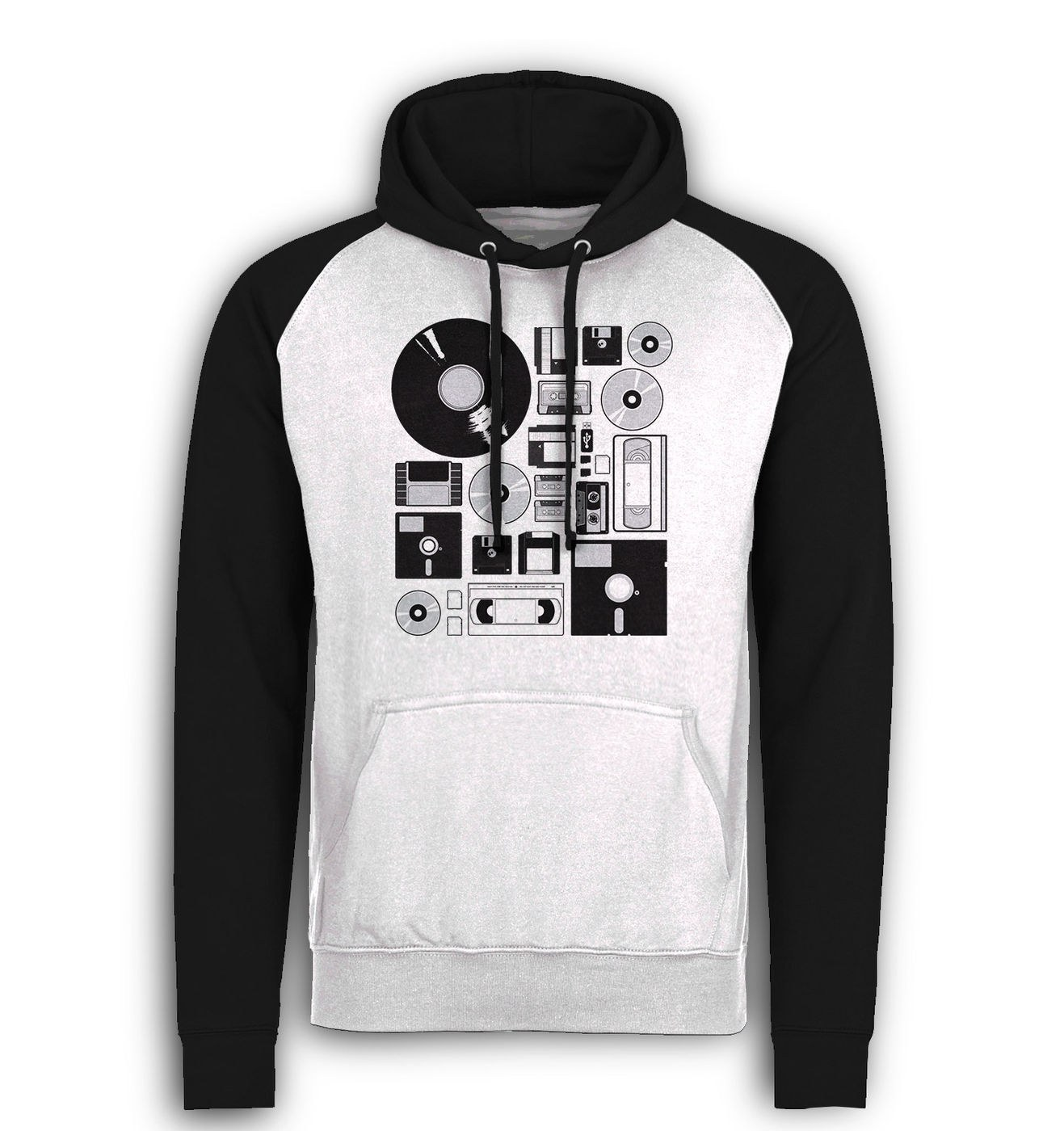 All The Data baseball hoodie by Something Geeky