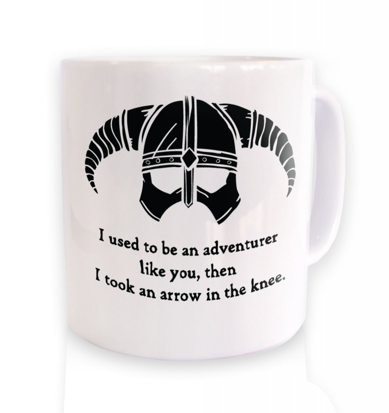 Arrow In The Knee (black detail) ceramic coffee mug