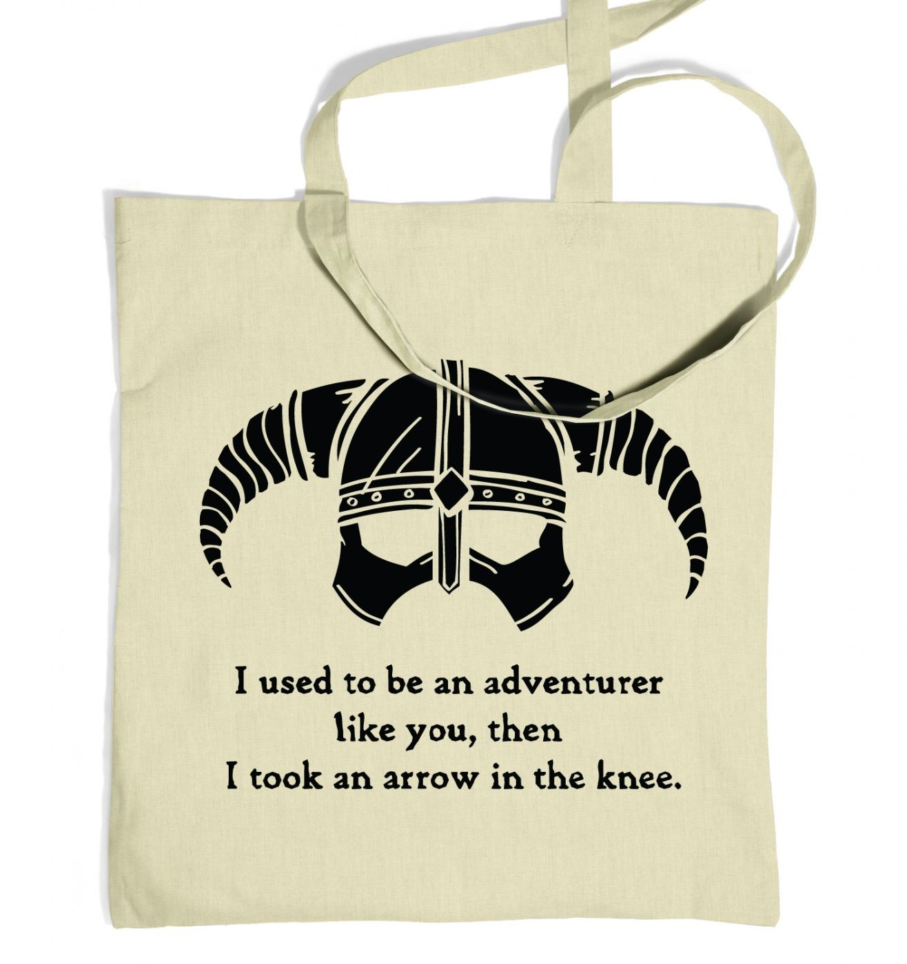 Arrow In The Knee (black detail) tote bag