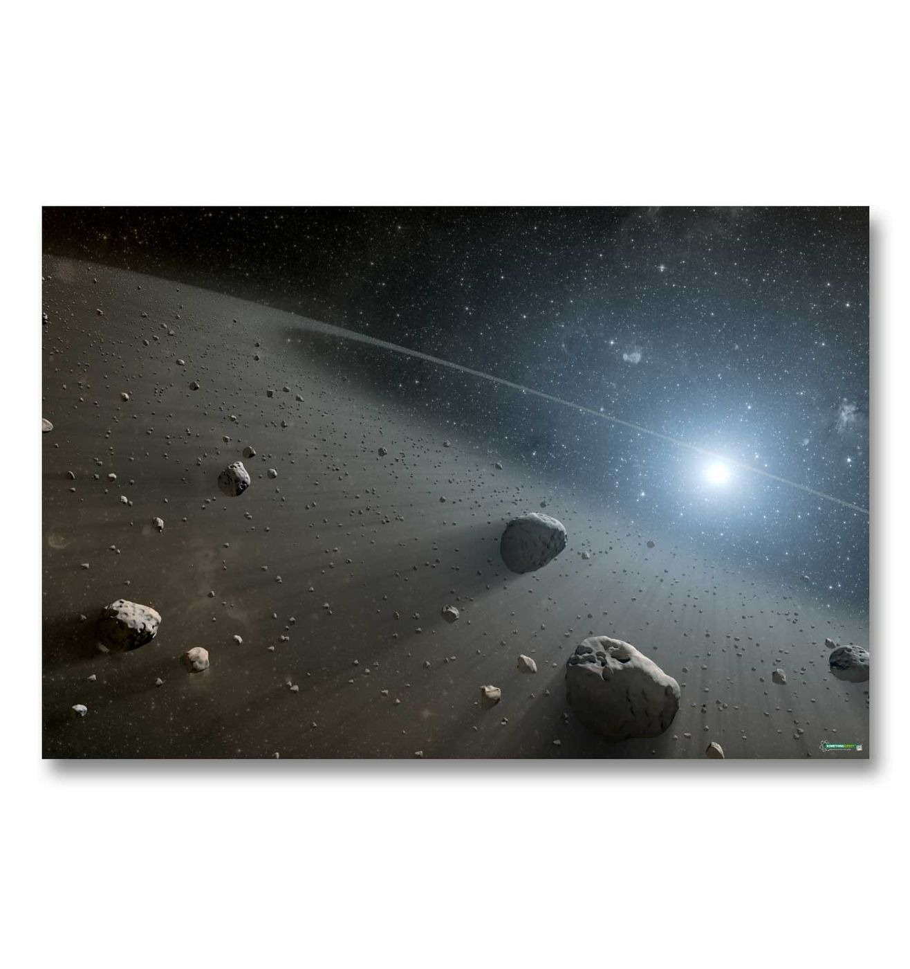 Asteroid Belt gaming mat - Stunning high res space battle mat