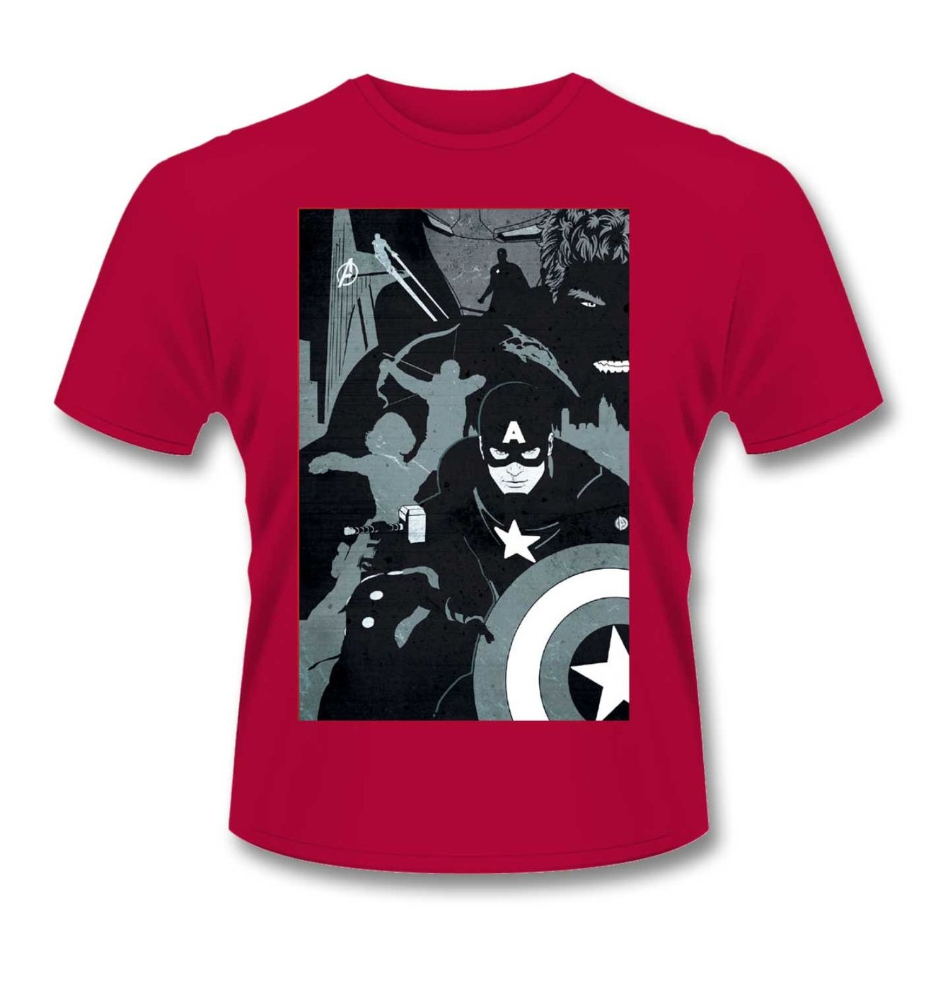 Avengers Silhouette t-shirt - Official Avengers Age Of Ultron tshirt