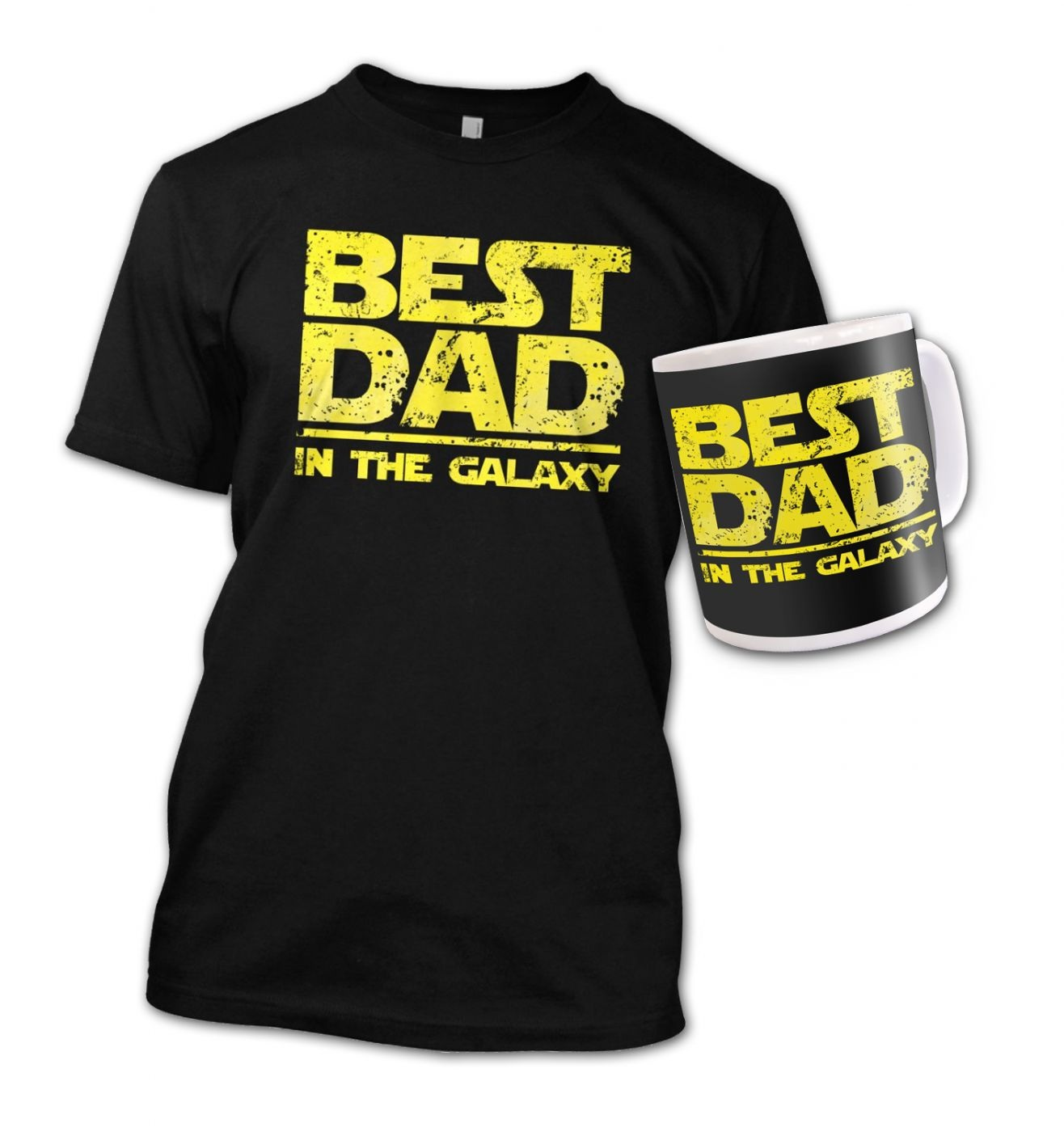 Best Dad In The Galaxy bundle (yellow detail)