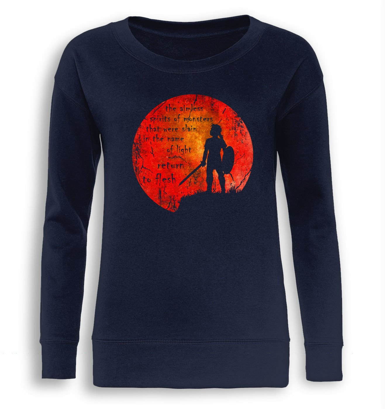Blood Moon fitted women's sweatshirt by Something Geeky