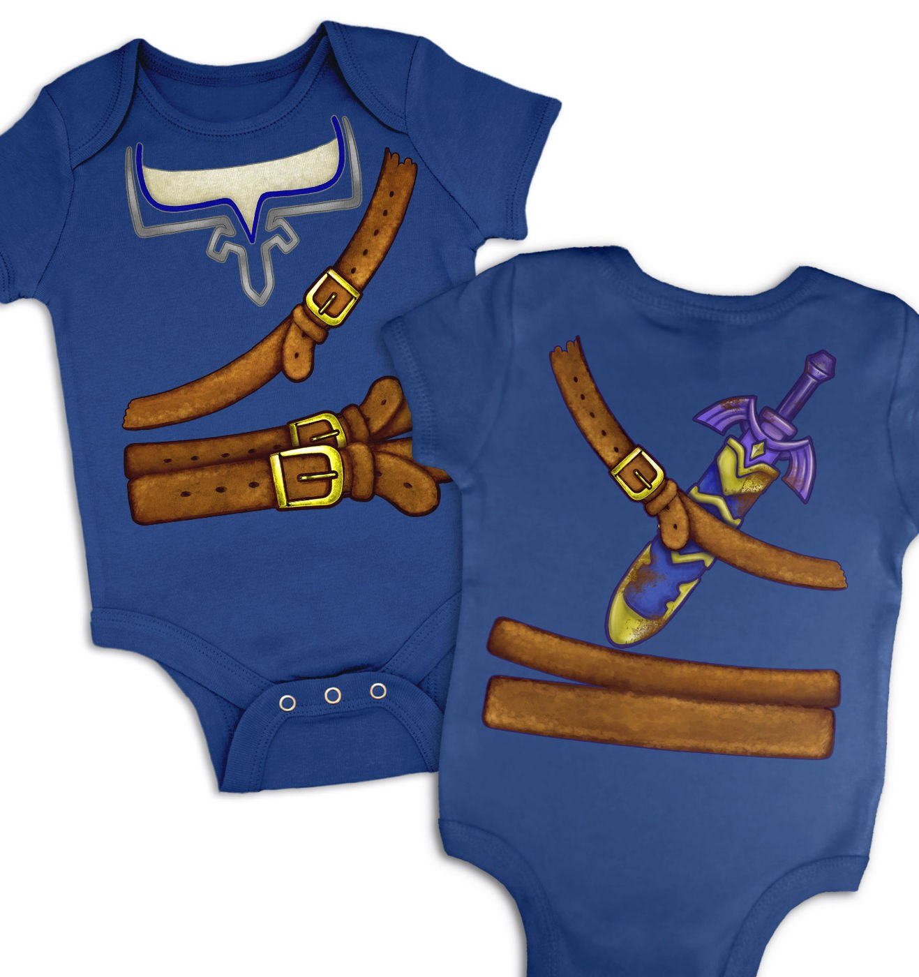 Blue Hyrule Warrior Costume baby grow by Something Geeky