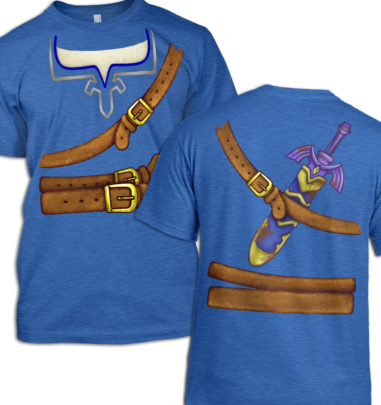 Blue Hyrule Warrior Costume men's t-shirt by Something Geeky