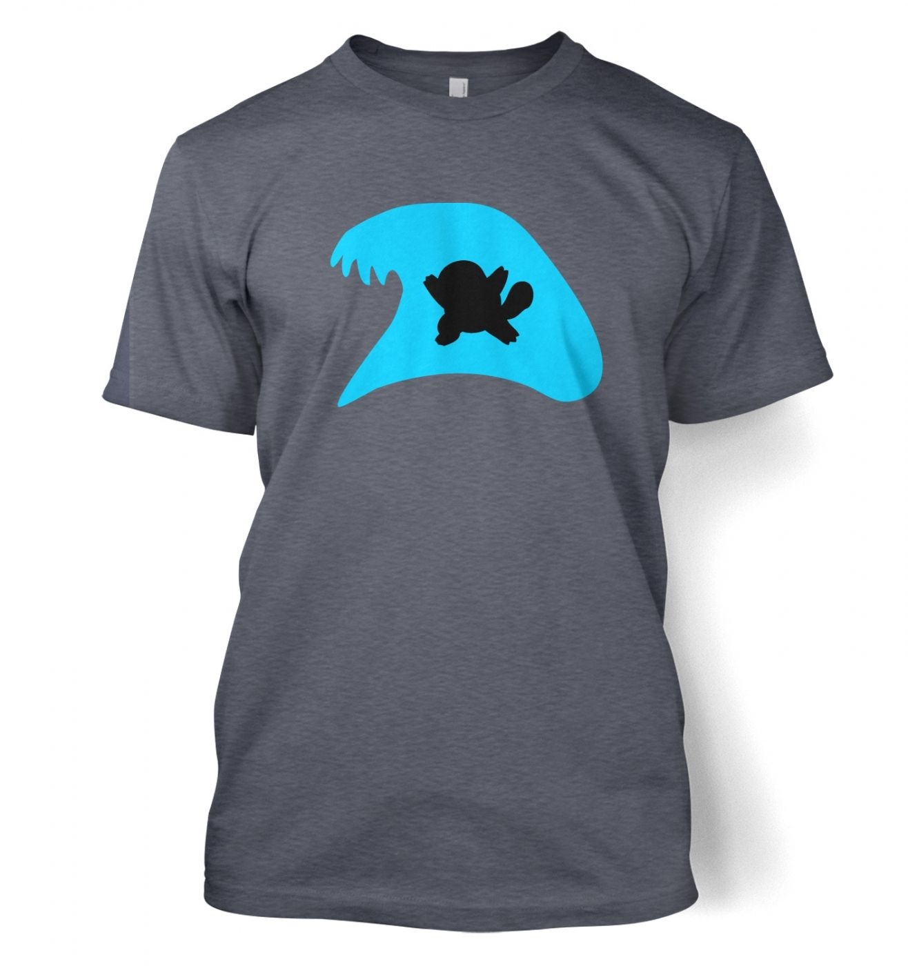 Blue Squirtle Silhouette T-Shirt - Inspired by Pokemon