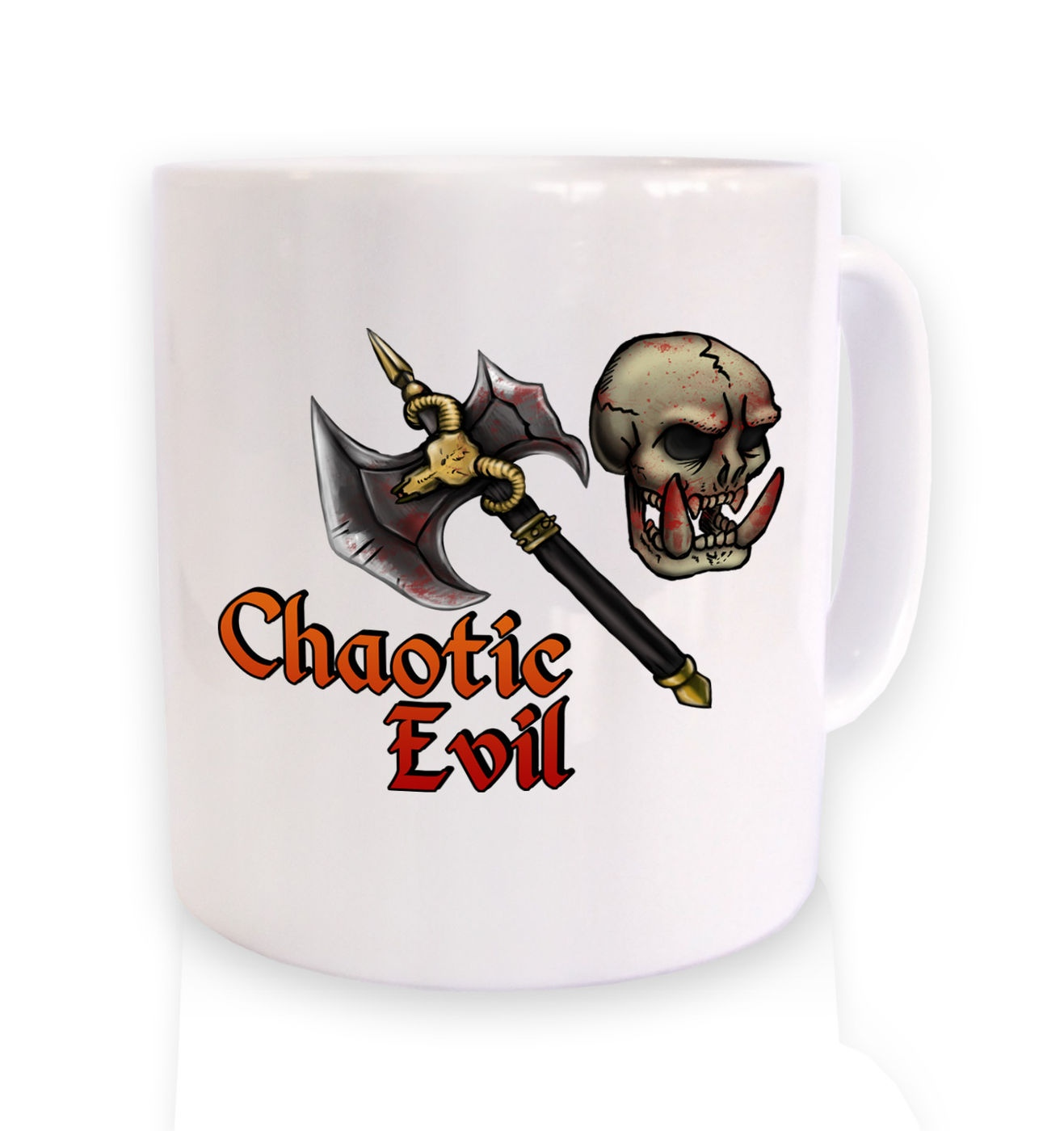 Cartoon Alignment Chaotic Evil ceramic mug - gaming mugs
