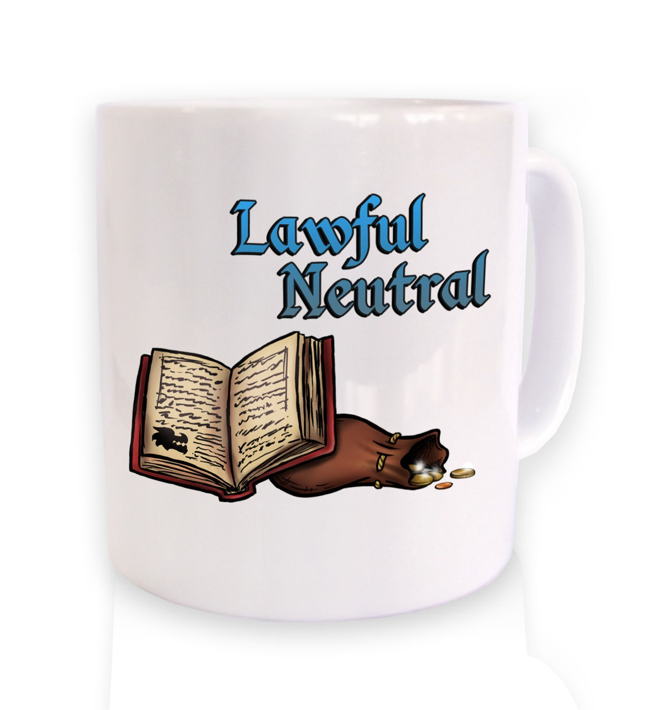 Cartoon Alignment Lawful Neutral ceramic coffee mug